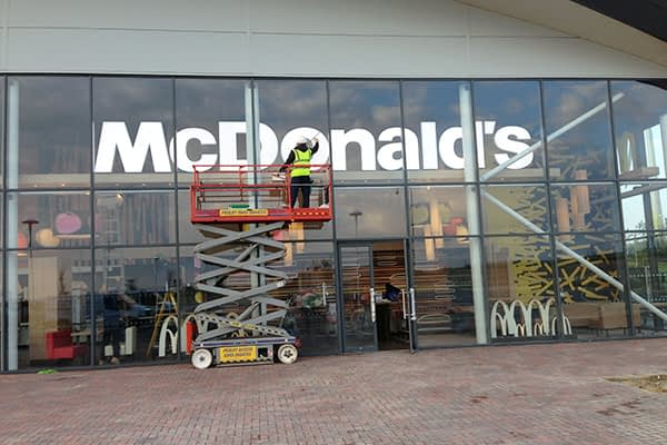 McDonalds builders clean london