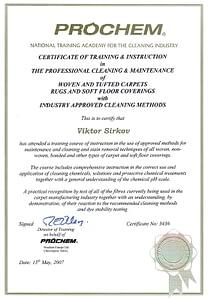 Prochem Certificate